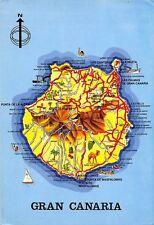 Spain Mapa de Gran Canaria Map Island Las Canteras Playa de Maspalomas