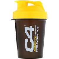 Cellucor  C4  SmartShake Shaker Cup  Black Yellow  20 oz  600 ml