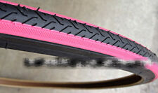 Duro 700 x 25C Tire - Black/Pink x 2(1 pair) Fixie Fixed Gear Road Bike Bicycle