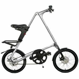 STRIDA SX SILVER BRUSH 18 ZOLL Klappfahrrad Citybike