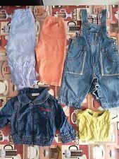 Lotto 247 stock 5 pezzi abbigliamento misto bimbo bambino neonato 3-6 mesi