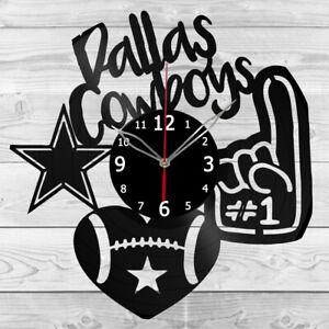 Vinyl Clock Dallas-Cowboys  Vinyl Record Wall Clock Home Art Decor Handmade 5261