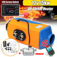 UK Air Diesel Heater LCD Monitor Remote Control Silencer Trucks Boat Car 5KW 12V
