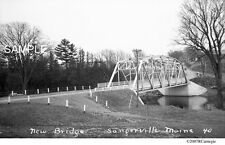 1930's New Bridge, Sangerville, Maine Original Film Negative For Sale!