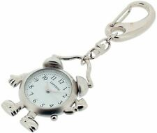 Gift Time Products Unisex Alarm Man Clock Key Ring - Silver
