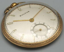 Bulova Pocket Watch  17 Jewel Wind Up Swiss Model 17AH Vintage 10k rolled gold