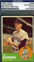 Jim Bunning Vintage Signed 1963 Topps Psa/dna Certed Autograph Authentic