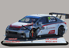 MINIATURE, MODEL CARS, JM LOPEZ, WTTC , PAUL RICARD 2014 en horloge