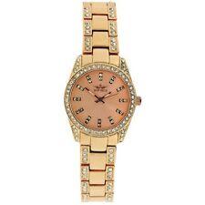 New Softech Diamante Face & Bracelet Designer Rose Gold Analog Watch Quartz