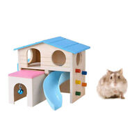 1pc Hamster House Ladder Slide House Pet Small Animal Hamster Wooden Play House
