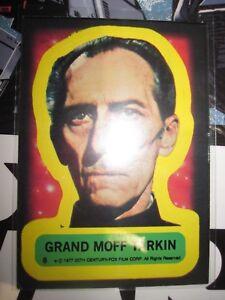 STAR WARS VINTAGE CARD TOPPS STICKERS GRAND MOFF TARKIN N° 8 1977 SERIE 1 USED