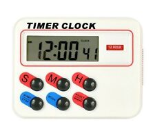 Digital LCD Timer Clock 12/24 Hours with Memory Funcation Kitchen Cooking Sport