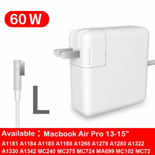 60W Model L MagSafe1 AC Charger Power Adapter For Macbook Pro A1344 A1172 A1278