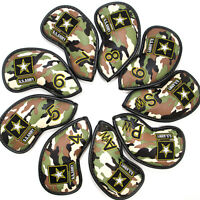 CAMO Camouflag U.S. Army Golf Iron Club Head Cover Pack of 9pcs Green Right Hand