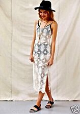 NEW Urban Outfitters X American Vintage ivory Sheer Lace Maxi Dress  L
