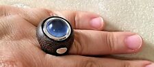 Crystal & Sterling Silver, Msrp $65 Size 7.5, Genuine Wood with Blue