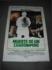 1977 Death of a Corrupt Man, vintage original 27x41 cinema poster Spanish