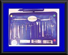 Prof. Minor Surgery kit 22 Surgical Dressing Instrument Set kit Stainless Steel