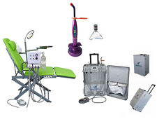 Portable Dental Unit with Air Compressor and New Portable Chair and Curing Light