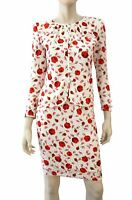 VALENTINO NIGHT Vintage 2 piece Floral Print White Silk Top Skirt Set XS