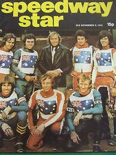 SPEEDWAY STAR MAGAZINE NOV 8 1975 AUSTRALIA ILA TEROMAA LEICESTER CHRIS PUSEY