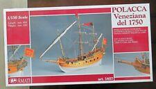 Amati 1:50 Venetian Polacca Wooden Tall Ship Model Kit