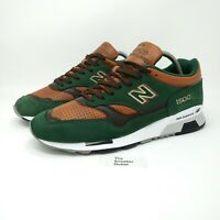 New Balance 1500 GT Trainers UK Size 7.5   Green Brown Robin Hood Made In UK