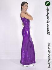 Tolles Latex-Trägerkleid - Latex Dress SUPERLANG - LILA - versch. Größen wählbar