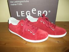Ladies LEGERO 857 TRAPANI Red SUEDE Lace Up SHOE Size UK 4 EUR 37 New!