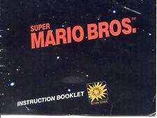 Super Mario Bros Instruction Booklet Manual Only NES Nintendo