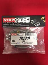 STOPTECH STAINLESS STEEL FRONT BRAKE LINE 02-17 SUBIE IMPREZA WRX STI 950.47006