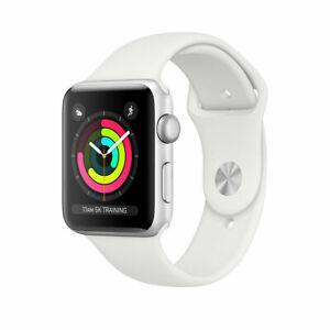 Apple Watch Series 3 38mm Smartwatch GPS Silver Aluminum box White case ch@rger