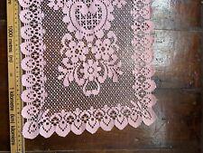 Vintage Pale pink/Coral Lace Crochet Table Runner 95cm long