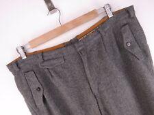 vtg073 imsand's VINTAGE Pantalones Cortos Bermudas ORIGINAL PREMIUM Lana Pura