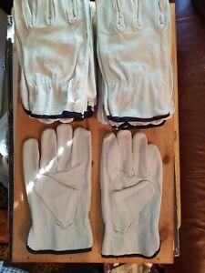 10 pair XL Leather Work Gloves Toledano Industries