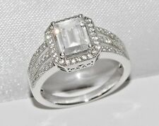 Sterling Silver (925) 2.00ct Ladies Cocktail / Engagement Ring - size Q