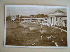 R/P Postcard - OPEN AIR SWIMMING BATHS, BLACKPOOL. Used 1926.