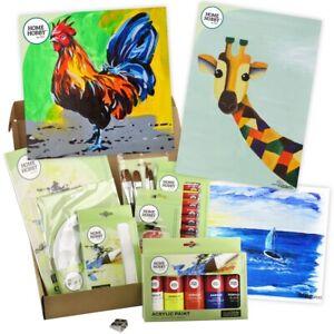 HomeHobby Paint Studio Kit Plus Acrylic Paint Water Colour Pencil Ideal Present