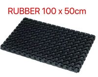 JVL Large Rubber Ring Heavy Duty Outdoor Entrance Door Mat 50 x 100 cm