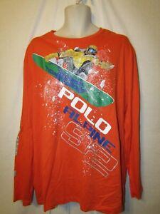mens polo ralph lauren LS snowboarding graphic  t-shirt XL nwt $79.50