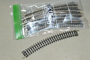 "N scale track Atlas 2510 nickel silver lot set of 12 curved curves 9 3/4"" radius"