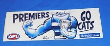 2011 Geelong Go Cats AFL Football Premiers Car Bumper Sticker 23 x 8 cm KNIGHT