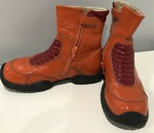 Girls Naturino Orange Boots Shoes 32 Us 1 Patent Leather High Quality Durability