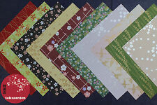 PAPIER DECO ORIGAMI YUZEN 20 PAPER MADE IN JAPAN WAGAMI MIXED WASHI CHIYOGAMI