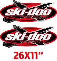 (2) 26X11'' SKI-DOO TEAM Emblem TRAILER DECAL STICKER Bombardier BRP Performance
