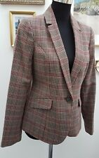 DUNNES STORES Checkered Blazer with Elbow Patch Sizes 8-10-12-14-16-18-20