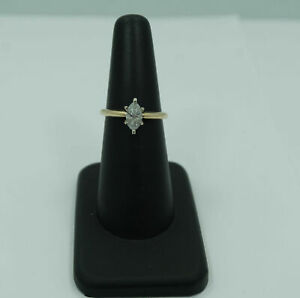 Pretty! 0.65 Carat Marquise Solitaire Diamond Engagement Ring - 14k Yellow Gold