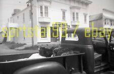 1950s Dogs Sleeping in Truck Bed - Bishop's General Store - Vintage Negative