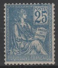 "FRANCE STAMP TIMBRE N° 118 "" MOUCHON 25c BLEU TYPE II 1900 "" NEUF xx LUXE  M563"