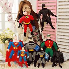 40cm Stuffed Superman Batman PVC Head DC COMICS Justice League Plush Soft Toy